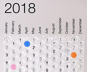 2018 Bubble Wrap Calendar