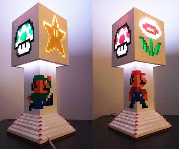 Mario Bros LEGO Lamp