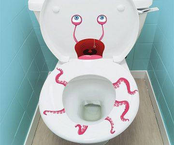 Terrifying Vinyl Toilet Decals