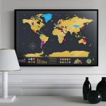 TravelScratcher Scratch-off World Travel Map
