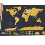 TravelScratcher Scratch-off World Travel Map