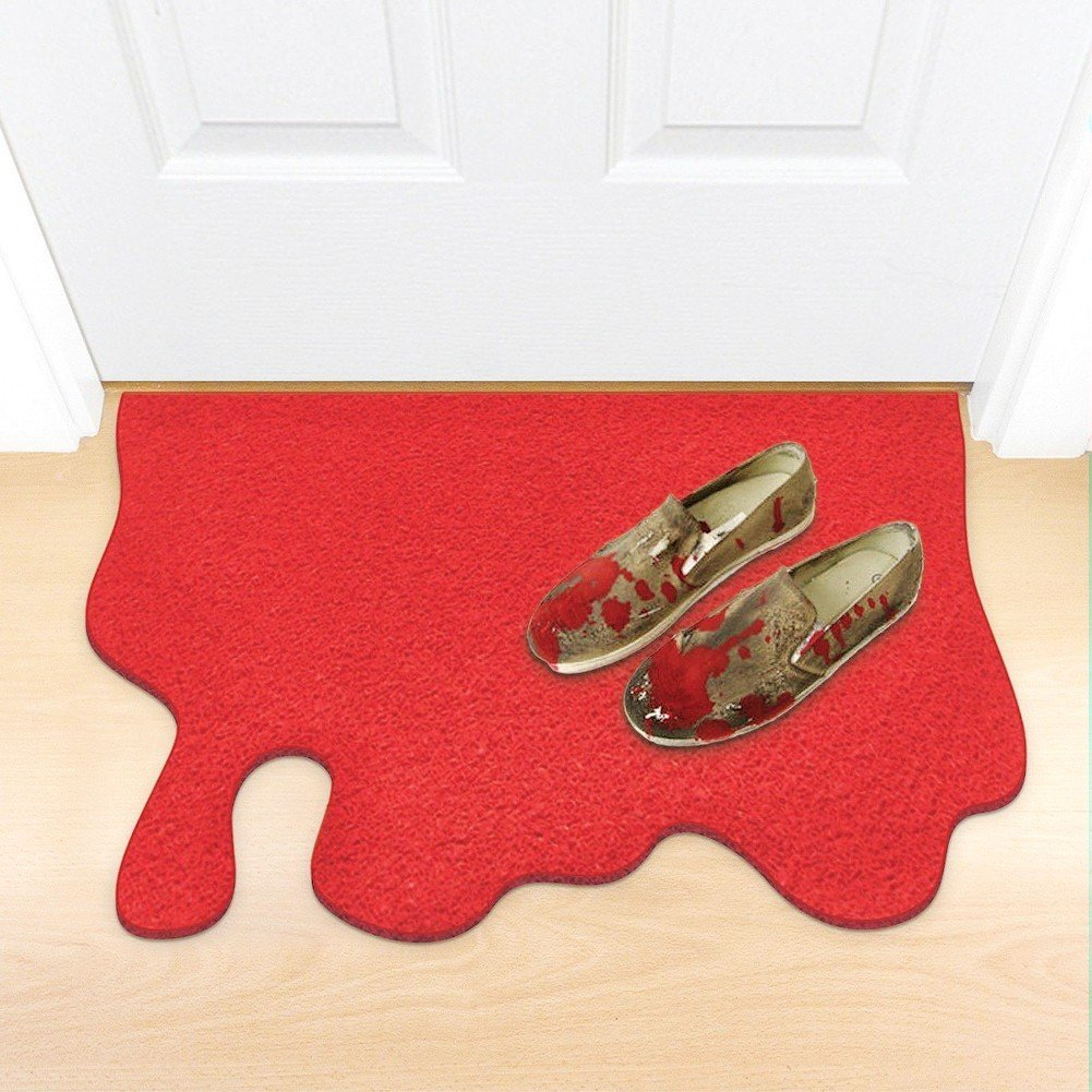 Red Blood Spill Doormat