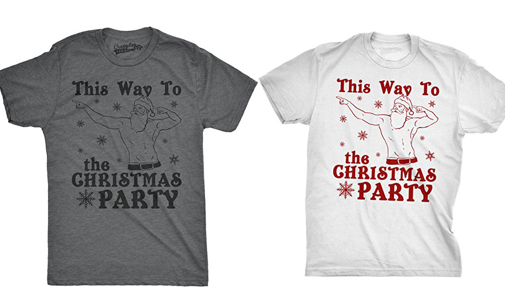 This Way To The Christmas Party UniSex Tee