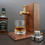 Handmade Wooden Alcohol Dispenser