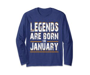 Legends Born In January T-shirt