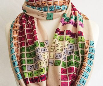 Nerdy Chemistry Periodic Table Scarf
