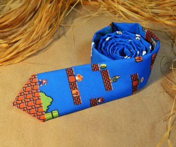 Super Mario 8 bit Neck Tie