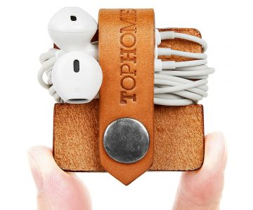 TOPHOME Cord Organizer & Earbud Holder