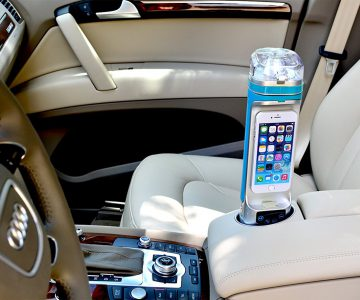 All-in-One Phone Bottle - Bluetooth Speaker, Powerbank, PhoneDock