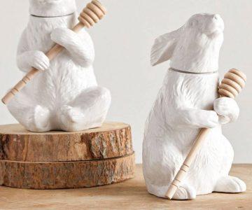 Ceramic Bear Honey Pot