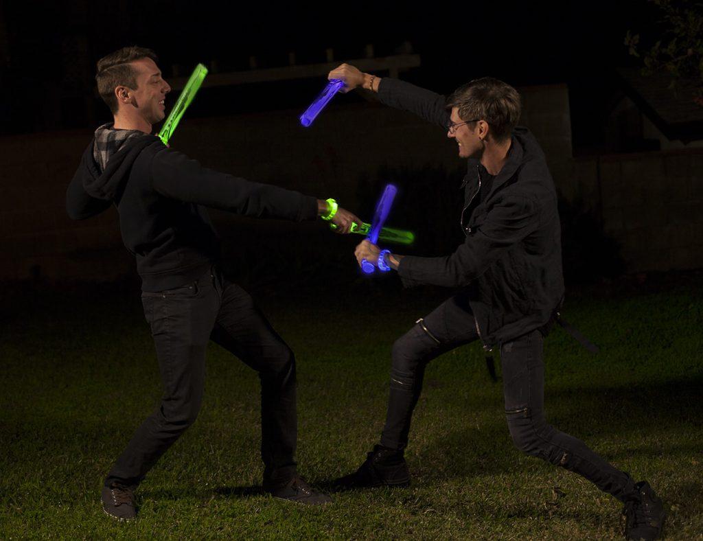 Glow Battle An interactive Light-Up Sword Game