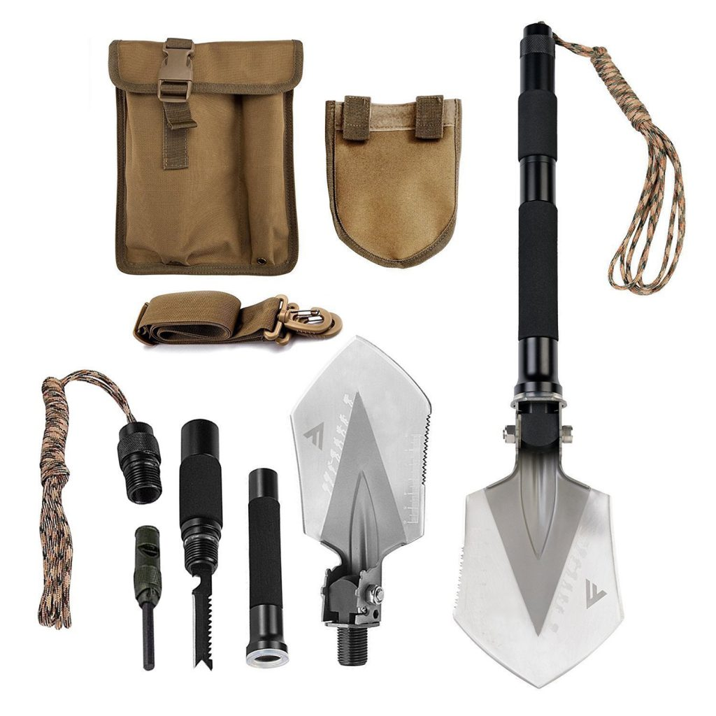 Military Grade Folding Shovel Multitool Kit