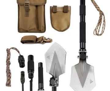 Military Grade Folding Shovel Multitool Kit