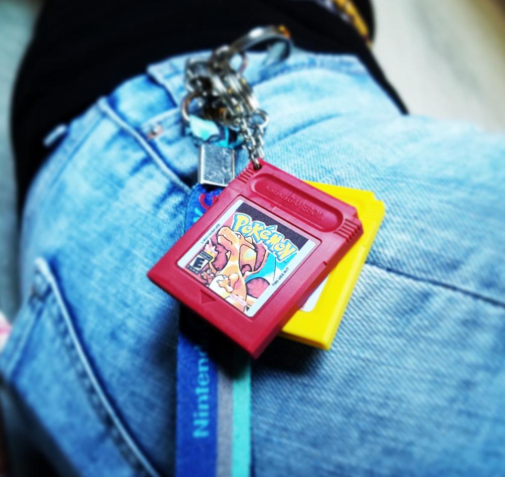 Pokemon Cartridge Keychains