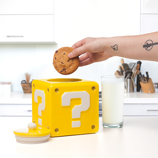 Question Block Cookie Jar