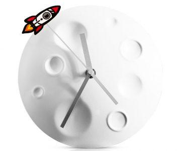 Rocket Moon Wall Clock