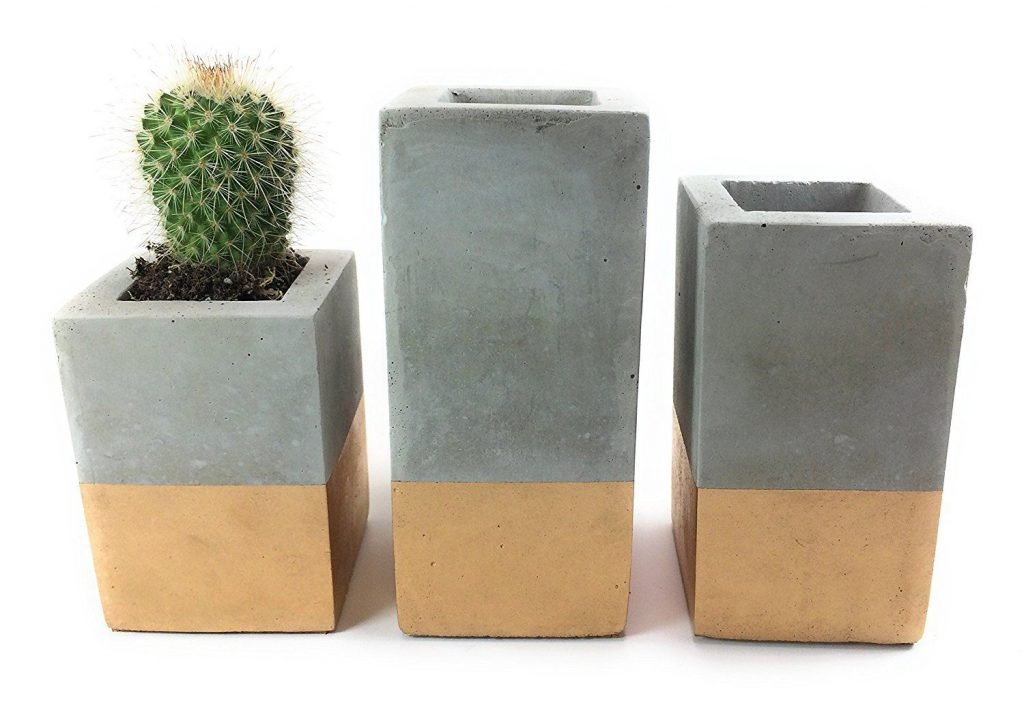 The Only Square Concrete Succulent Planters you Need for your Patio Veranda or Garden!