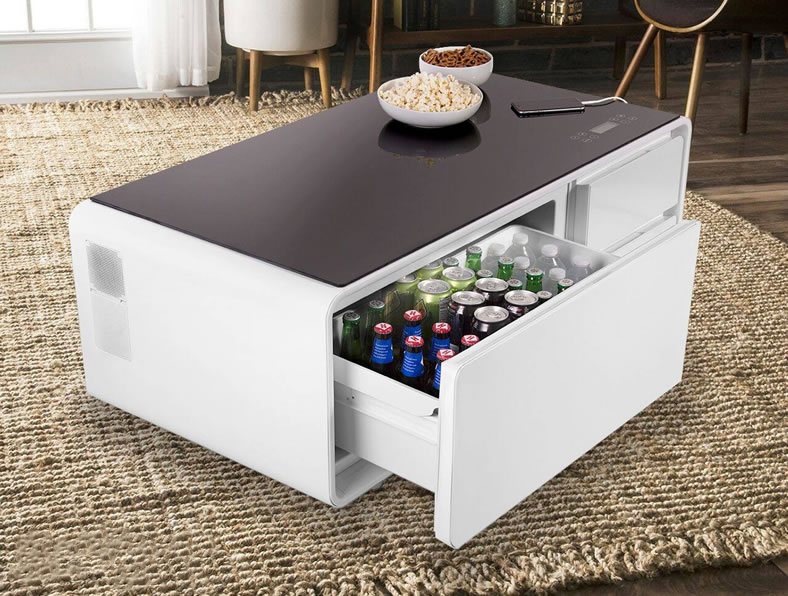 Coffee Table with Drink Cooler