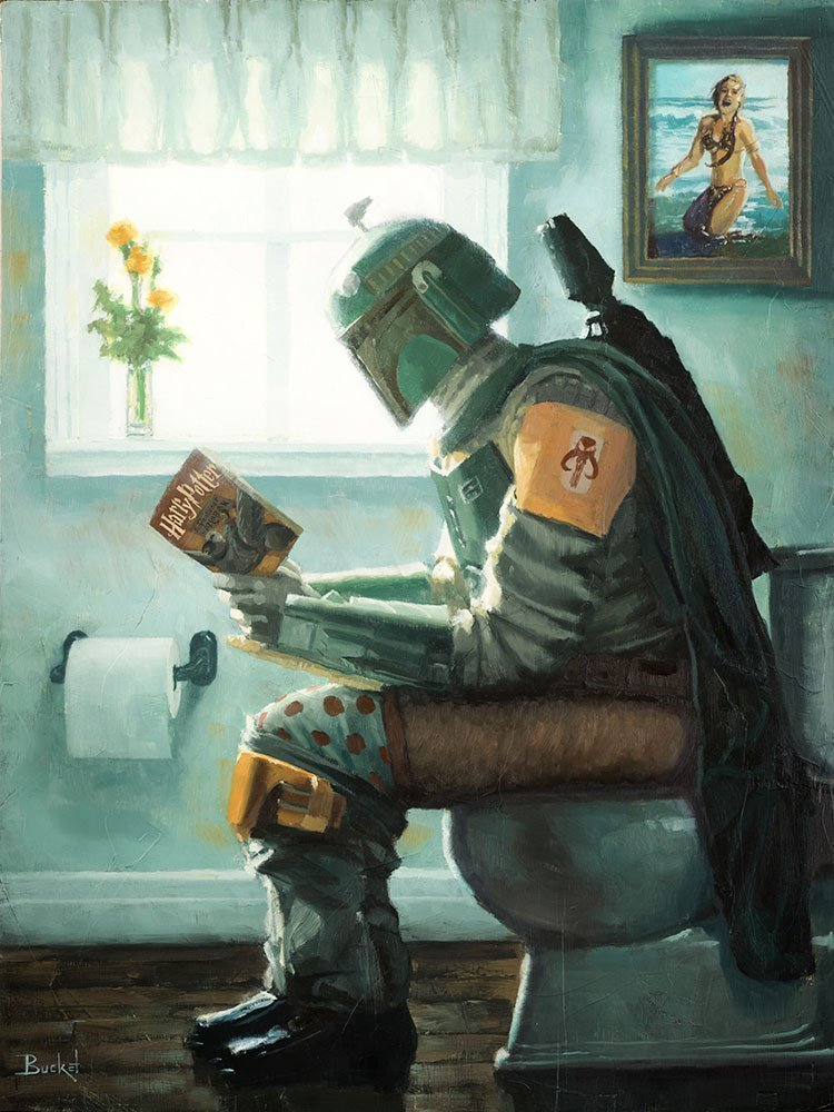 Dropping a Bounty Star Wars Boba Fett Parody Wall Art