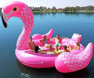 Giant Flamingo Pool Float - Party Bird Island