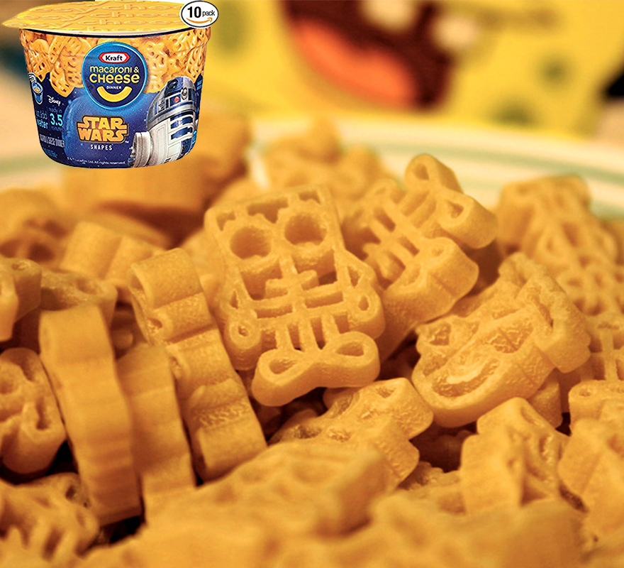 Mac and Cheese Star Wars Shapes