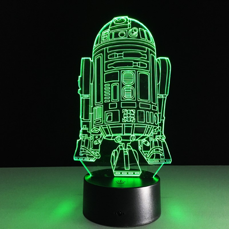 R2D2 Optical Illusion Desk Lamp