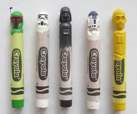 Star Wars Carved Crayons