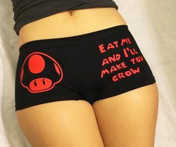 Super Mario Mushroom 'Eat Me And I'll Make You Grow' Undies